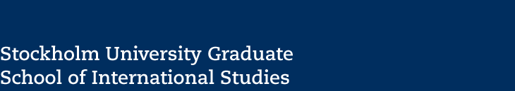 Stockholm University Graduate School of International Studies